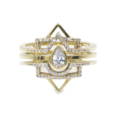 The Pear Box - Pear Cut Diamond Stack