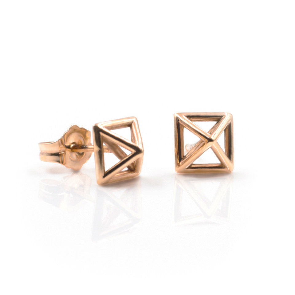 square charm brass charms stud brooklyn product pyramid