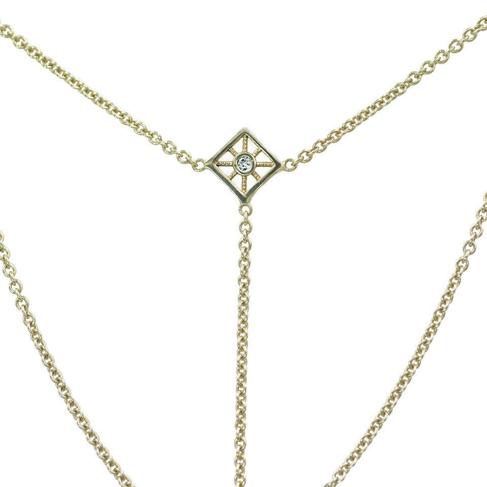 The Star Compass Lariat | 14K Yellow Gold | Giacomelli