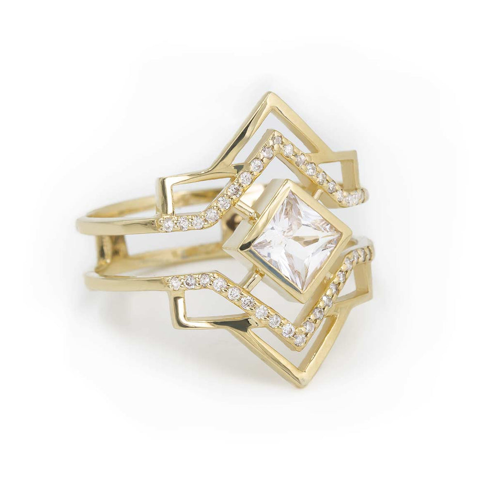 Stella Stack Ring | Diamond | Giacomelli Jewelry