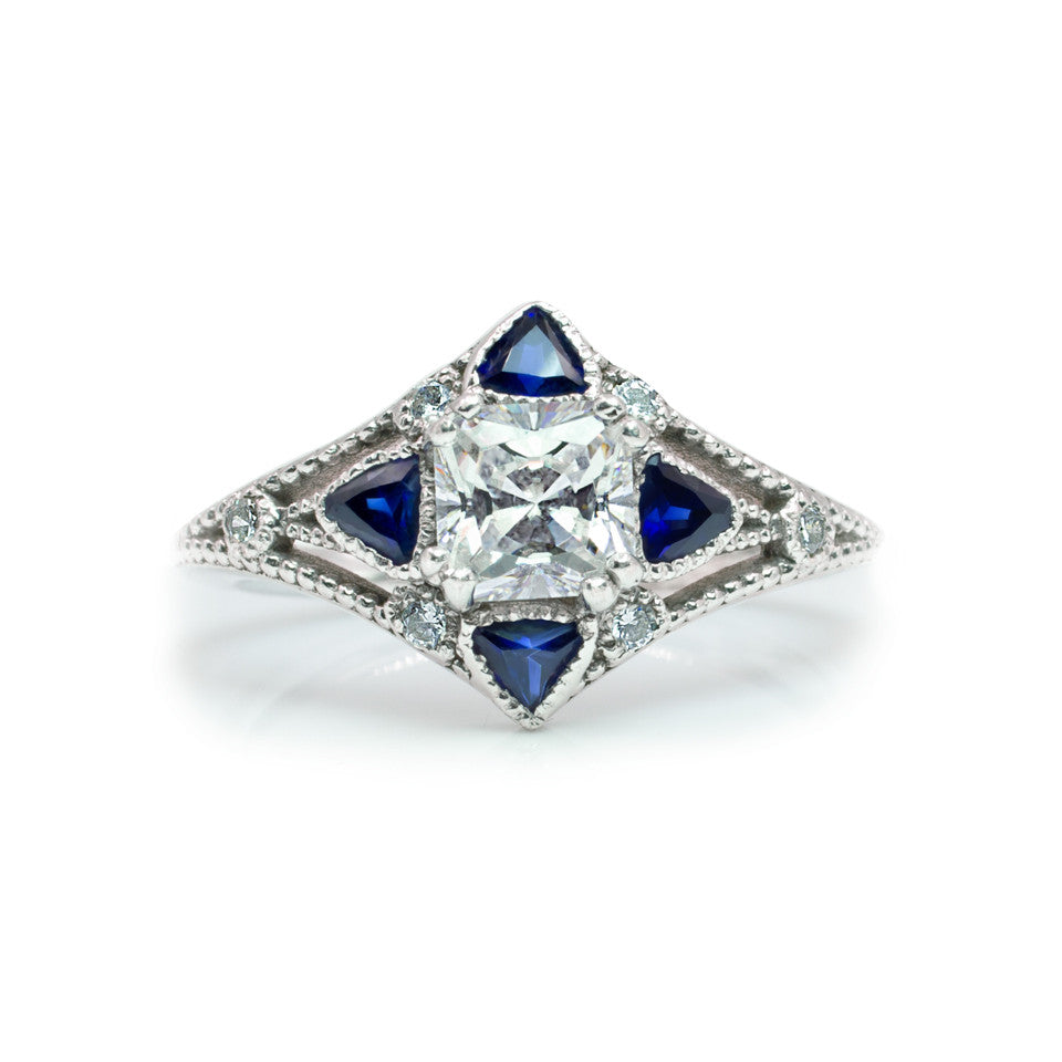 TheCompass-gold-unique engagment ring-diamond-sapphire
