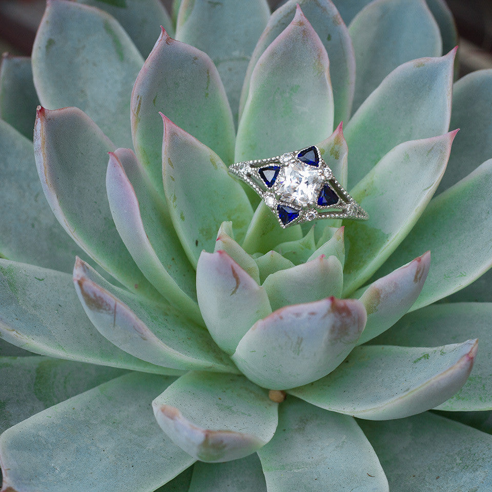 The Compass engagement ring succulents