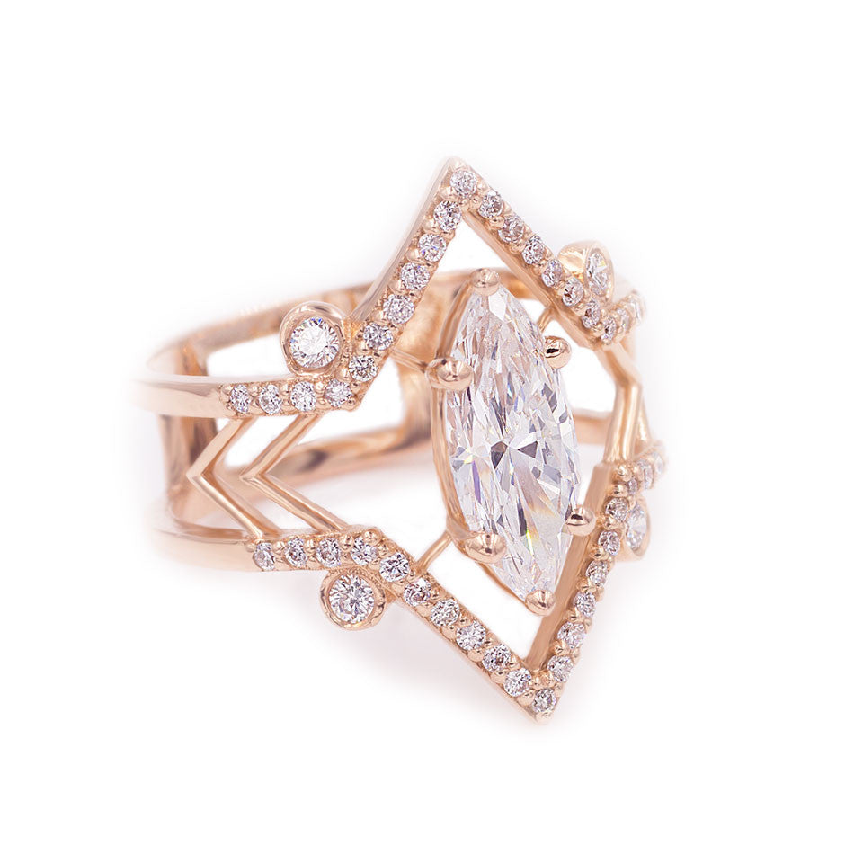 yellow halo diamond marquis ring image rings double marquise cut