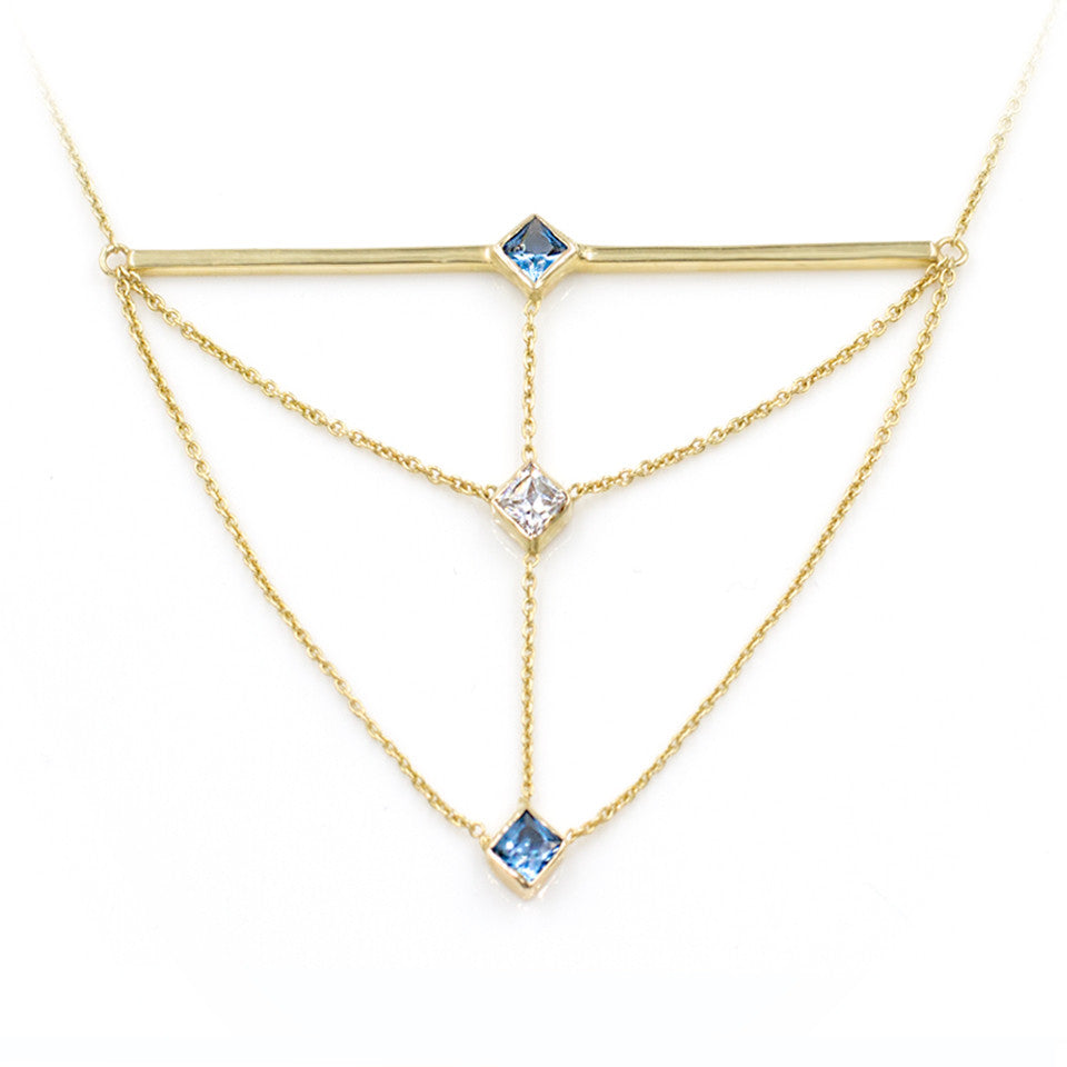cornerstacknecklace-diamond-bluezircon-unique-chain-triangle-goldbar-giacomelli