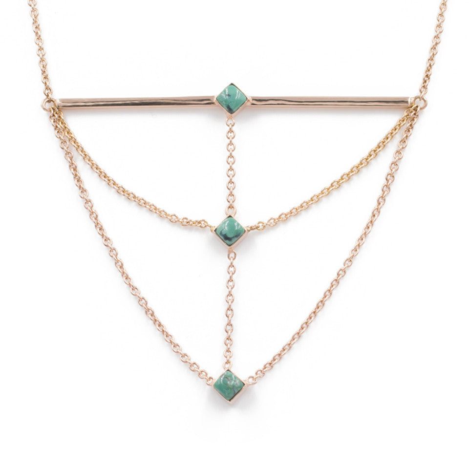 The Corner Stack Necklace - Turquoise