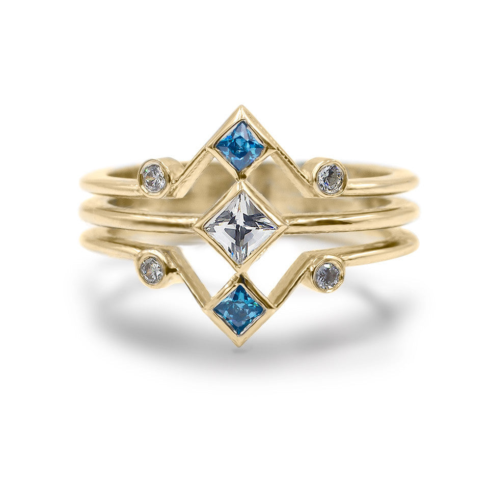 The Corner Stack - Blue Zircon