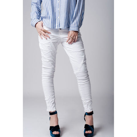 White super skinny jeans In cotton