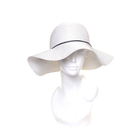 Packable Silver Floppy Wide Brim Sun Hat