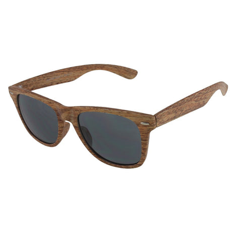 Free Gift! Unisex Wayfarer Sunglasses in Faux Wood