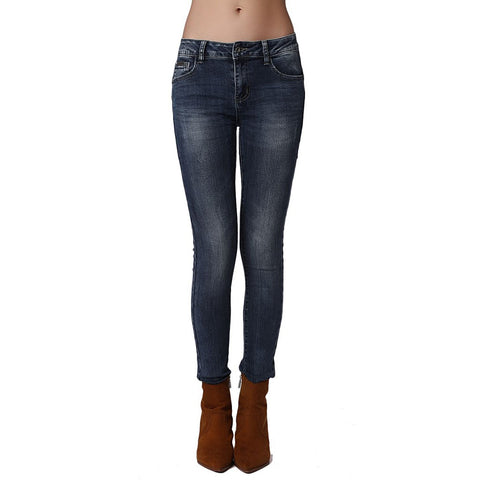 Push Up Mid Rise Skinny Jeans