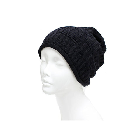 Free Gift! Unisex Basket Weave Slouchy Beanie Hat Mid Weight