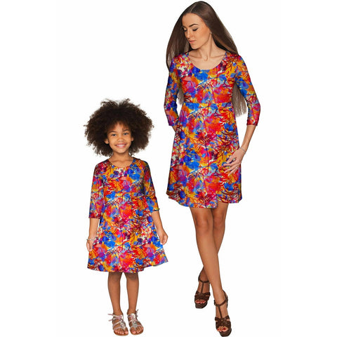 Summer Dizziness Gloria Empire Waist Mommy and Me Dresses