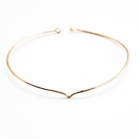 Clarity collar gold plated brass necklace
