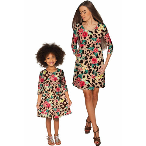 Wild & Free Gloria Empire Waist Mother and Daughter Dresses