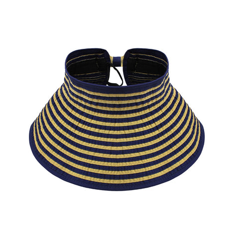 Striped Roll Up Packable Hat
