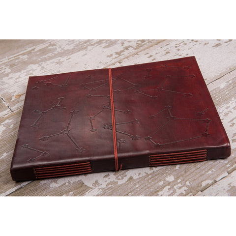 Constellations Oversized Large Handmade Leather Journal