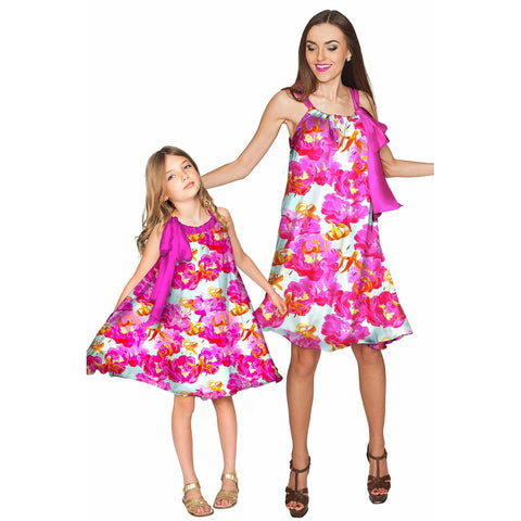 Sweet Illusion Melody Swing Chiffon Mother and Daughter Dress