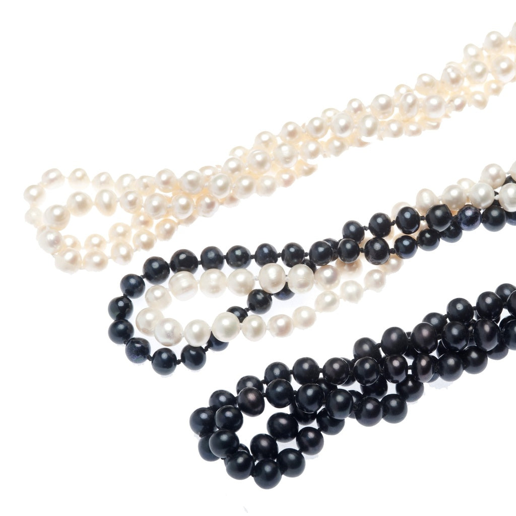 Gatsby Pearl Rope Necklace