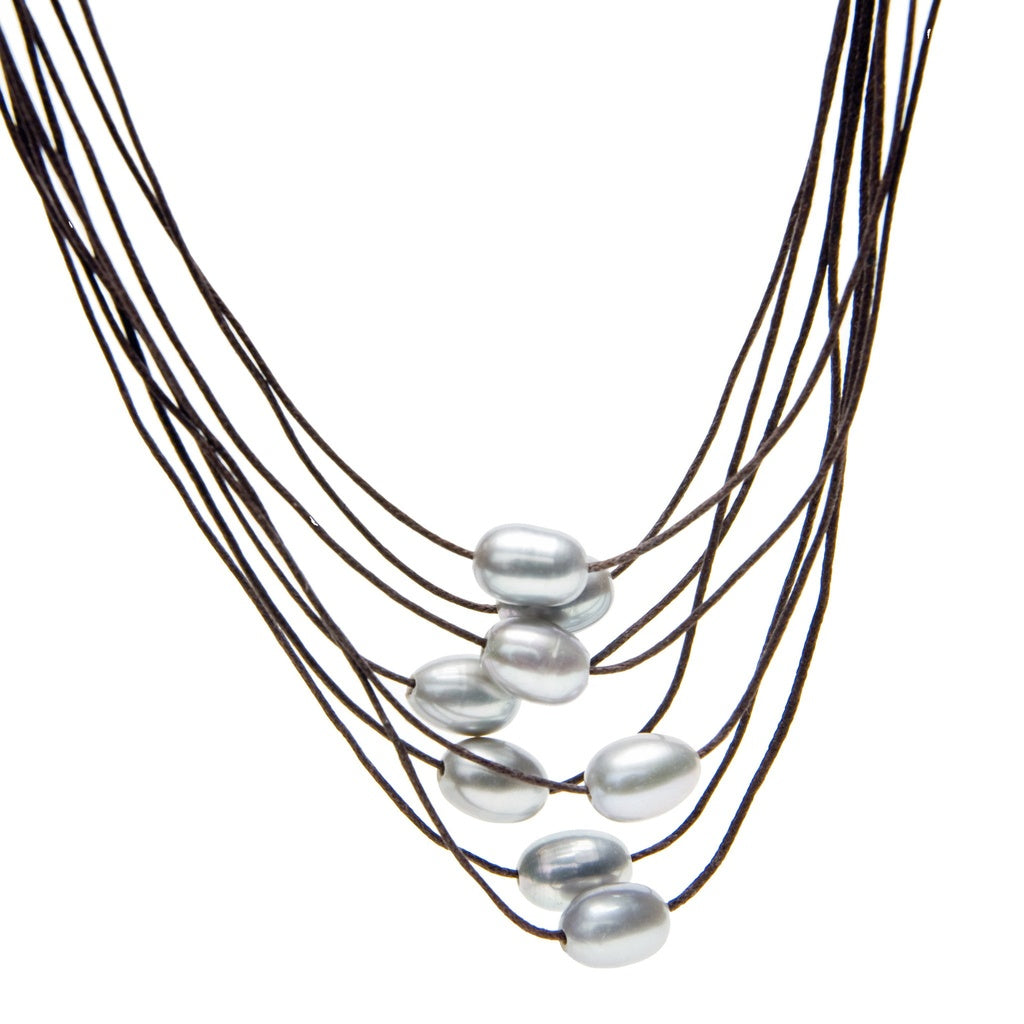 Birkita Multi-Strand Pearl Necklace
