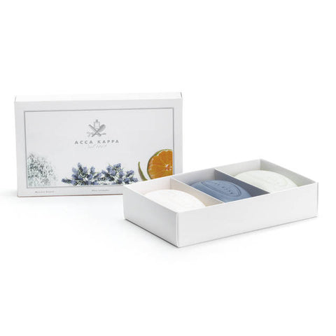 Acca Kappa Soap Set - White Moss, Blue Lavender, Green Mandarin