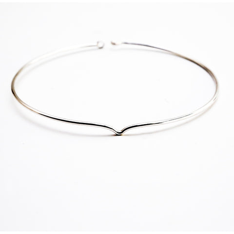 Clarity collar solid sterling silver necklace