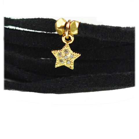 Lucky Star Black Suede Choker