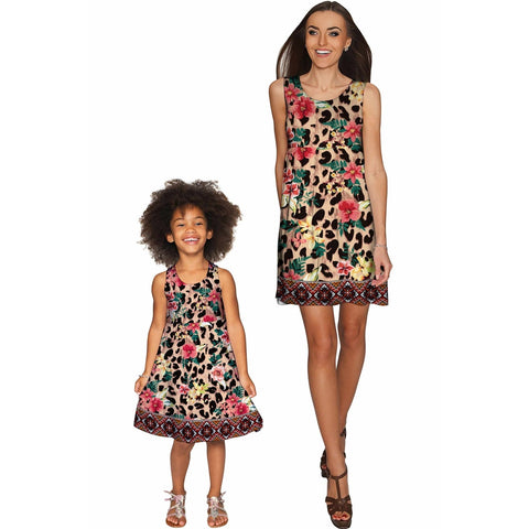 Wild & Free Sanibel Empire Waist Floral Mother and Daughter Dresses