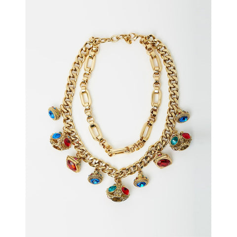 Izoa Hera statement necklace gold multi