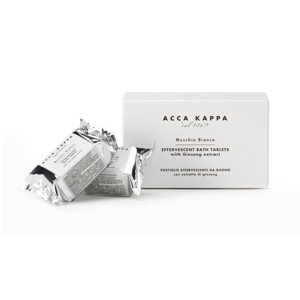 Acca Kappa White Moss Effervescent Bath Tablets - Box of 6