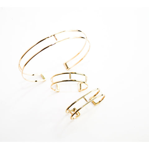 Curve  brass cuff bracelets assorted