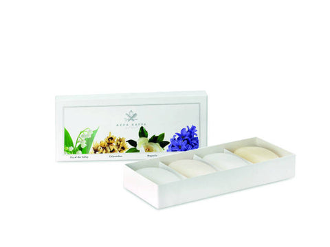 Acca Kappa Soap Set - Calycanthus, Magnolia, Lily Of The Valley, Hyacinth