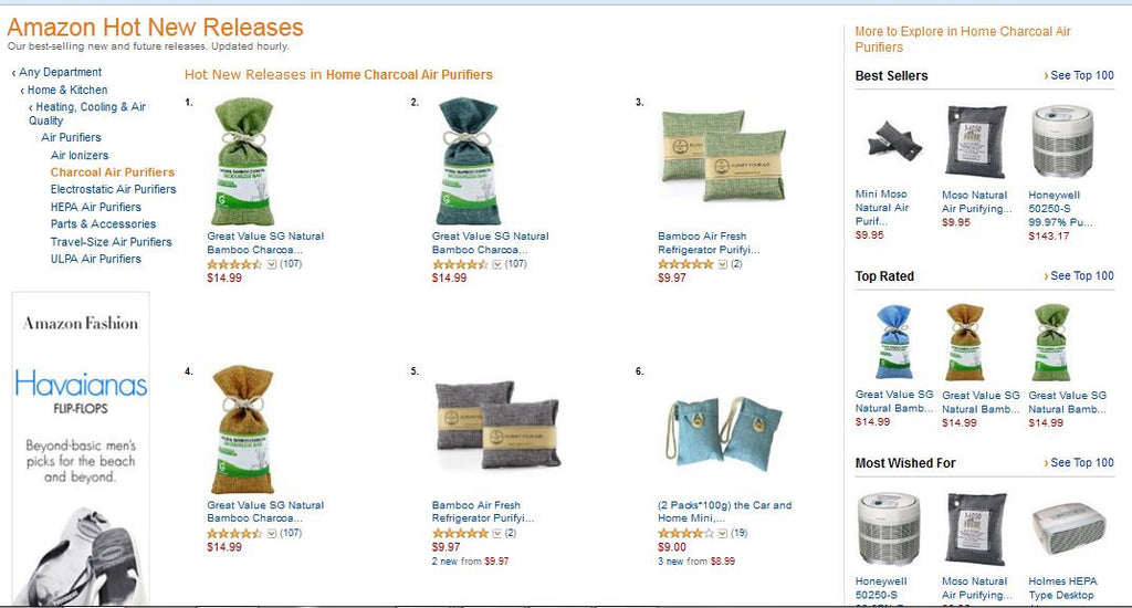 Pistachio Green Natural Bamboo Charcoal Deodorizing Bag Won No. 1 Hot New Release On Amazon.com