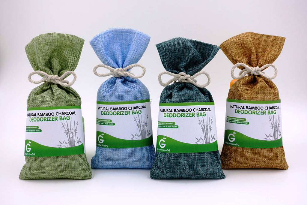 Great Value SG Introduces 3 New And Vibrant Color Variants Of Natural Bamboo Charcoal Deodorizer Bag