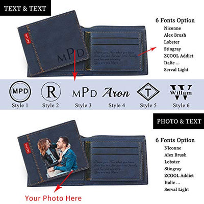 Custom Engraved Personalized Photo RFID Wallet
