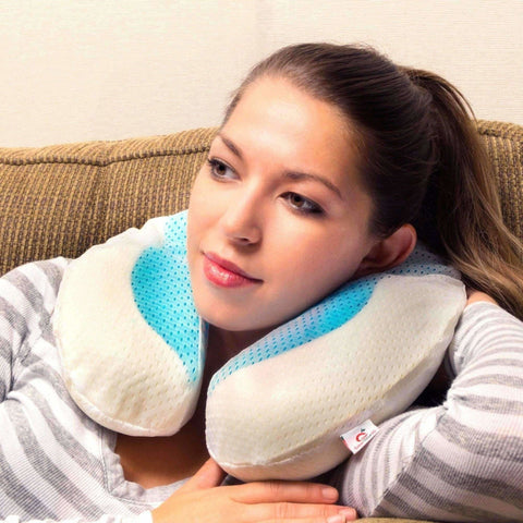 Great Value SG - Memory Foam Pillow - Neck Kool Cooling Gel Memory Foam U Pillow Set (only ship from Singapore)