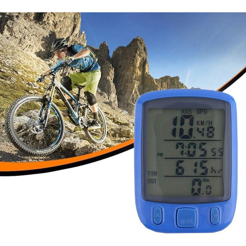 Bicycle Computer with Auto Green LCD Display Backlight