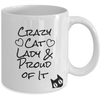 Image of crazy cat lady - white coffee mug
