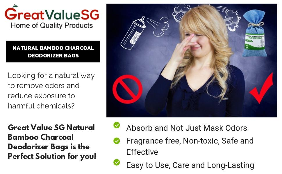 Great Value SG Natural Bamboo Charcoal Deodorizers Best Quality Air Fresheners and Purifiers