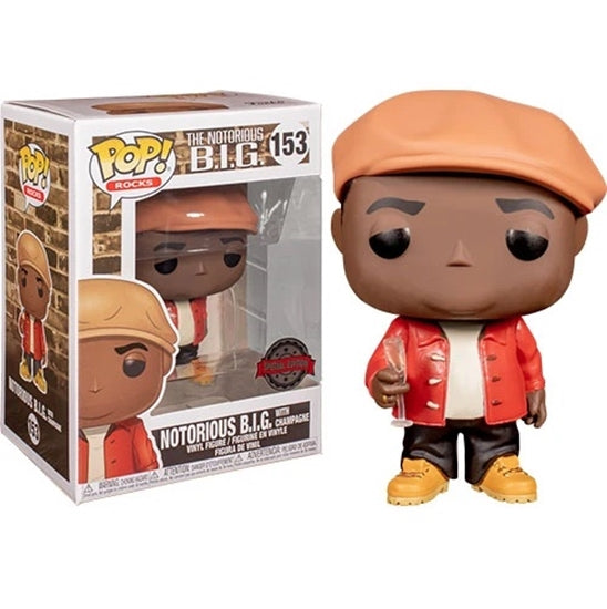 Rocks Pop! Vinyl Figure Notorious B.I.G. with Champagne [153]