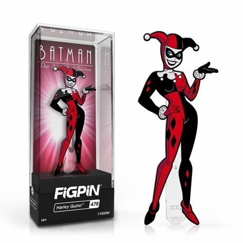 DC Batman The Animated Series: FiGPiN Enamel Pin Harley Quinn [478]