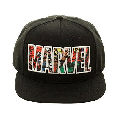 Bioworld Marvel Comic Logo Snapback Cap