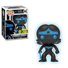 DC Super Heroes Pop! Vinyl Figures Glow In The Dark Wonder Woman Silhouette [8] - Fugitive Toys