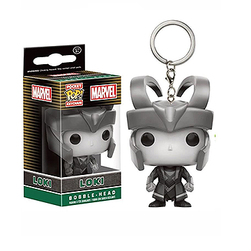 Marvel Pocket Pop! Keychain Loki (Black & White) [Exclusive] - Fugitive Toys