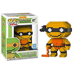 8-Bit Pop! Vinyl Figure Michelangelo (Neon Orange) [07] - Fugitive Toys