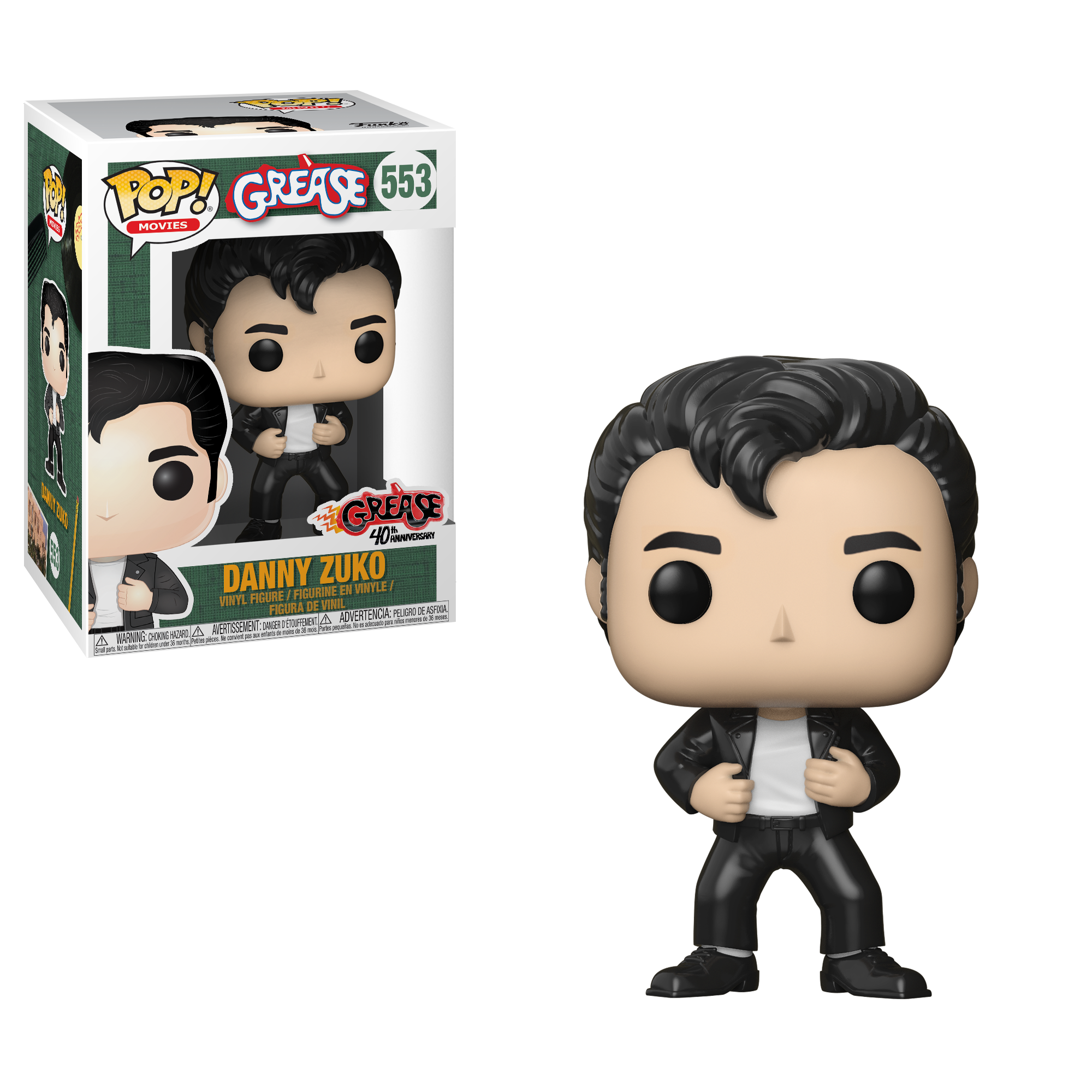Grease Pop! Vinyl Figure Danny Zuko [553] - Fugitive Toys