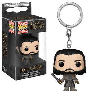 Game of Thrones Pocket Pop! Keychain Jon Snow (Beyond The Wall) - Fugitive Toys