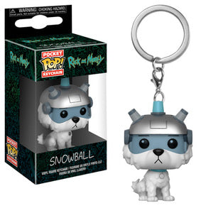 Rick and Morty Pocket Pop! Keychain Snowball - Fugitive Toys