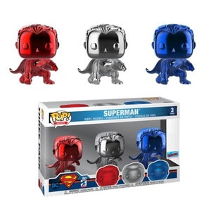 DC Comics Pop! Vinyl Figure Chrome Superman [NYCC 2018] [3-pack]