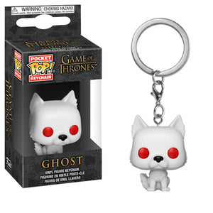 Game of Thrones Pocket Pop! Keychain Ghost - Fugitive Toys