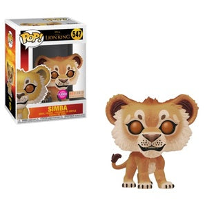 The Lion King Pop! Vinyl Figure Live Action Simba (Flocked) [547]